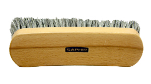 Saphir horsehair shine brush - 21 cm