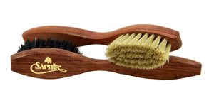 Saphir Large Applicator Brush - Black - boar bristle