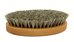 Saphir Oval shoe brush - white