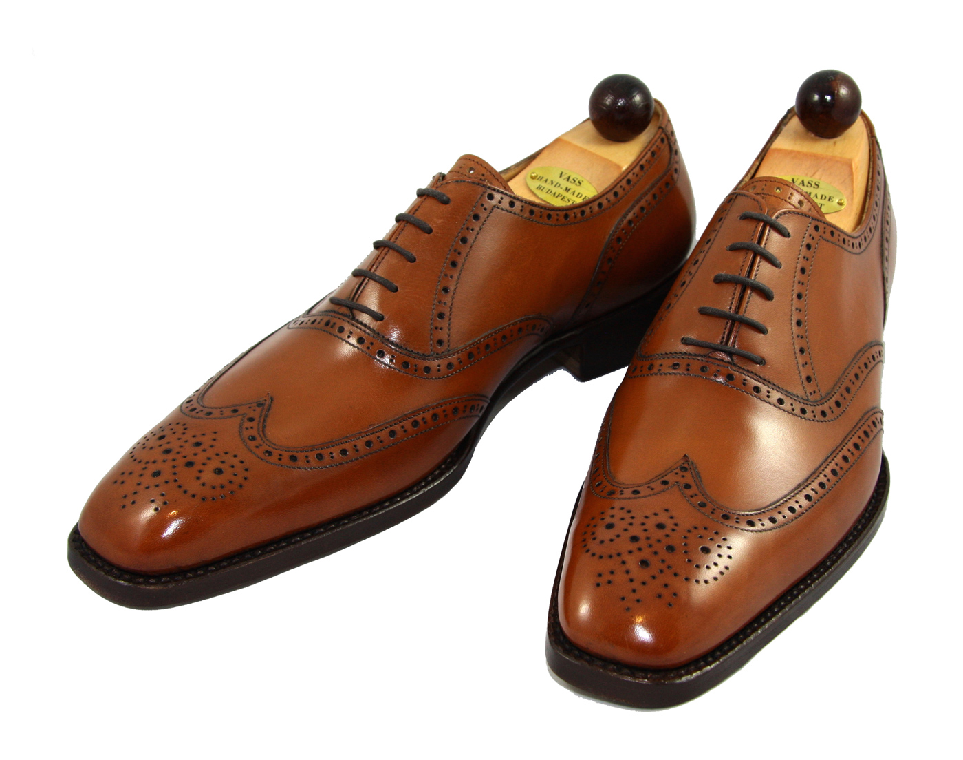 Vass Shoes 1075 Size 44 Cognac Calf