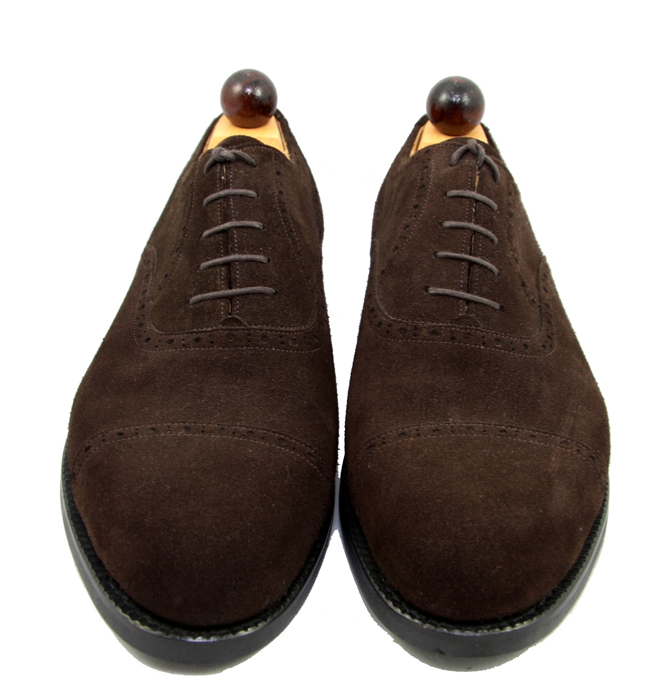 Vass Shoes 1065 Brown Suede Size 42