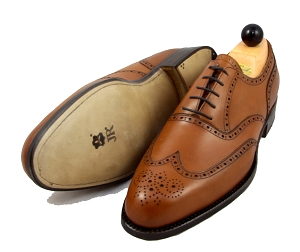 Vass Shoes 1075 - Size 46.5 - Cognac